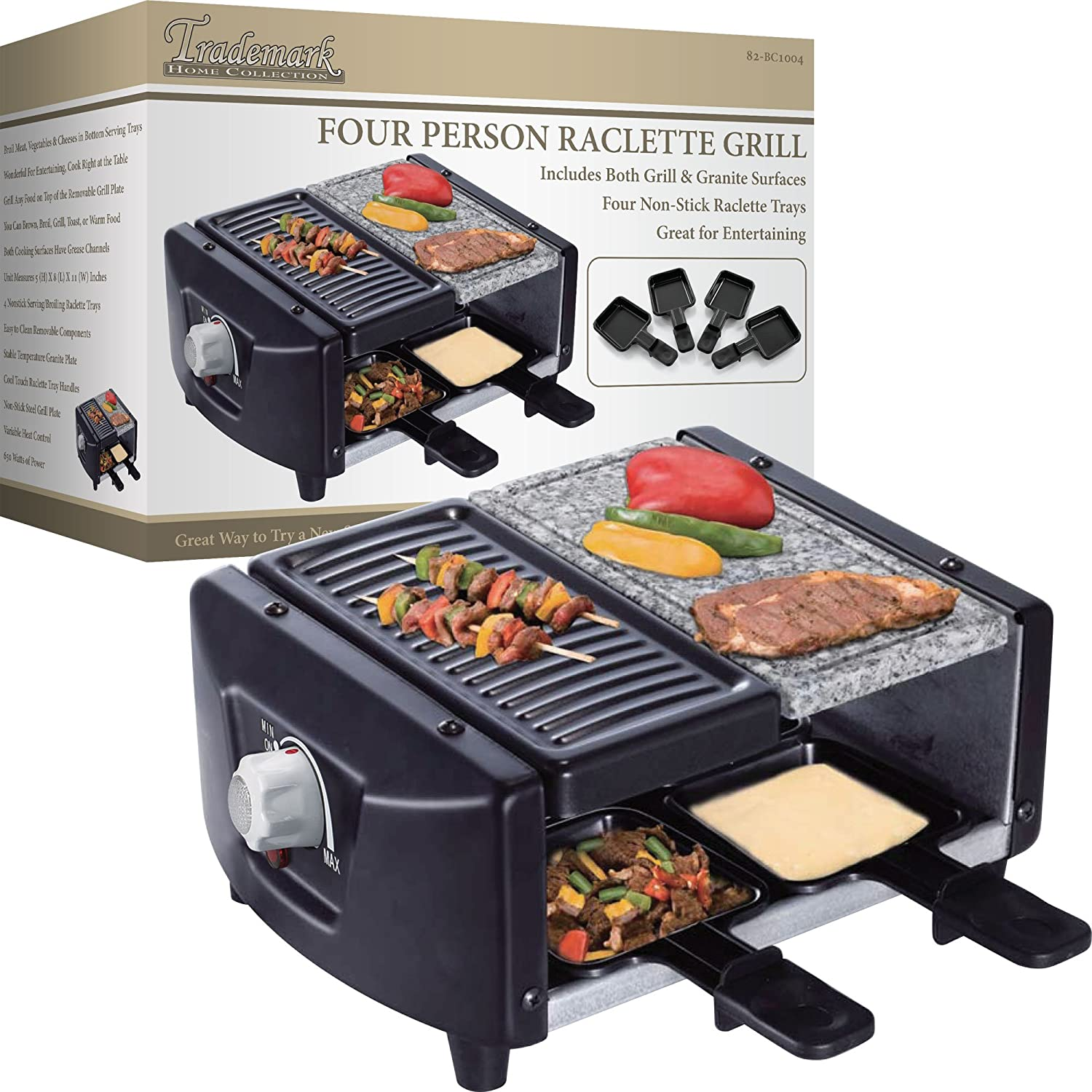 Chef Buddy 82-BC1004 4-Person Raclette Grill