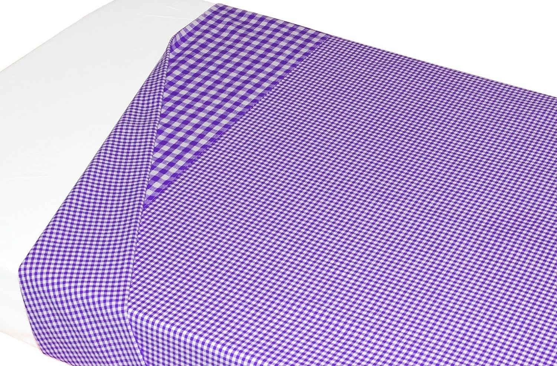 Lenzuolo in cotone a scacchi TAFTAN LA-357 120 x 150 cm colore: Viola