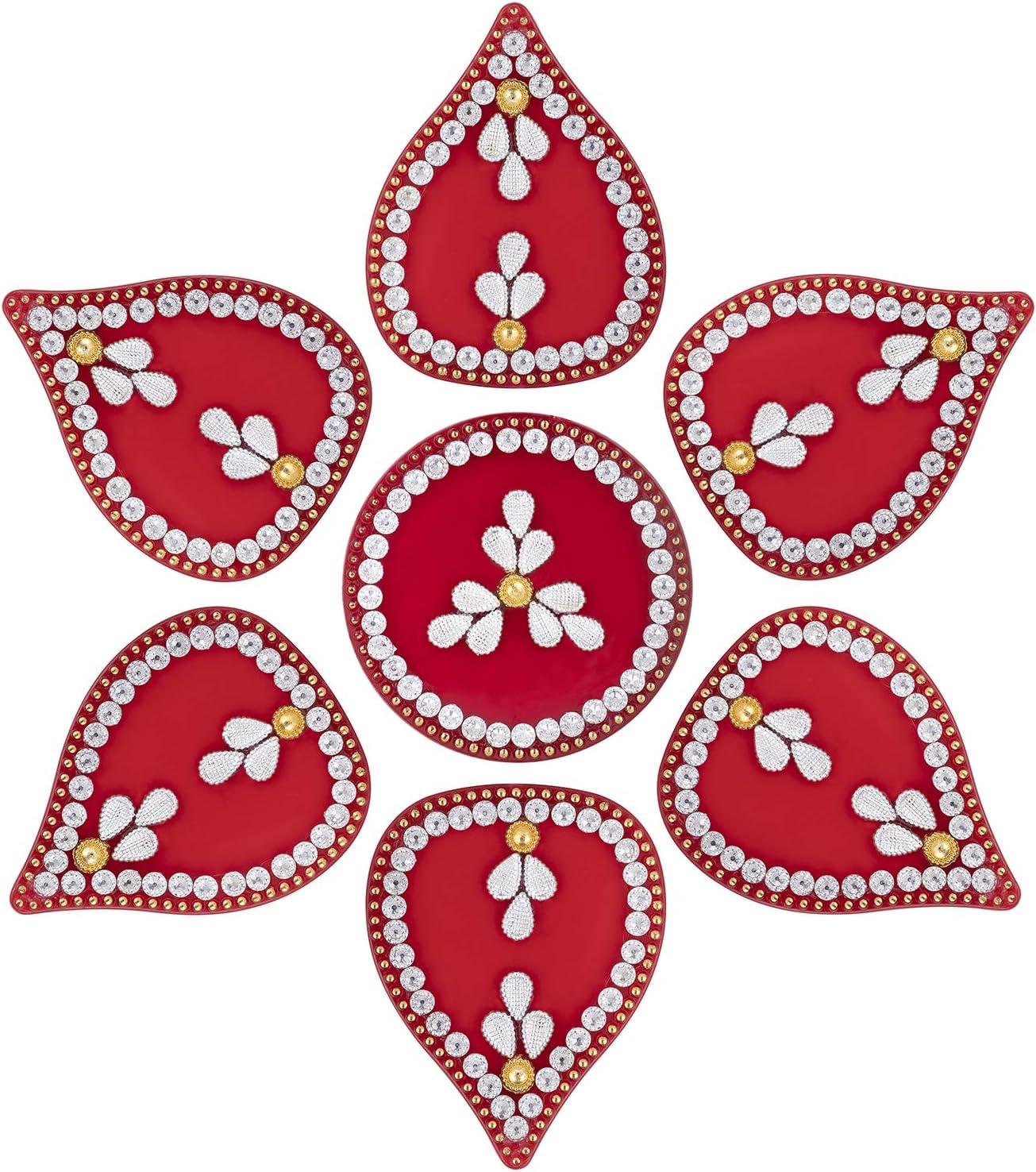 Aheli Acrylic Modak Design Stone Studded Diwali Party Rangoli Floor Table Door Decorations Indian Traditional Home Office Decor