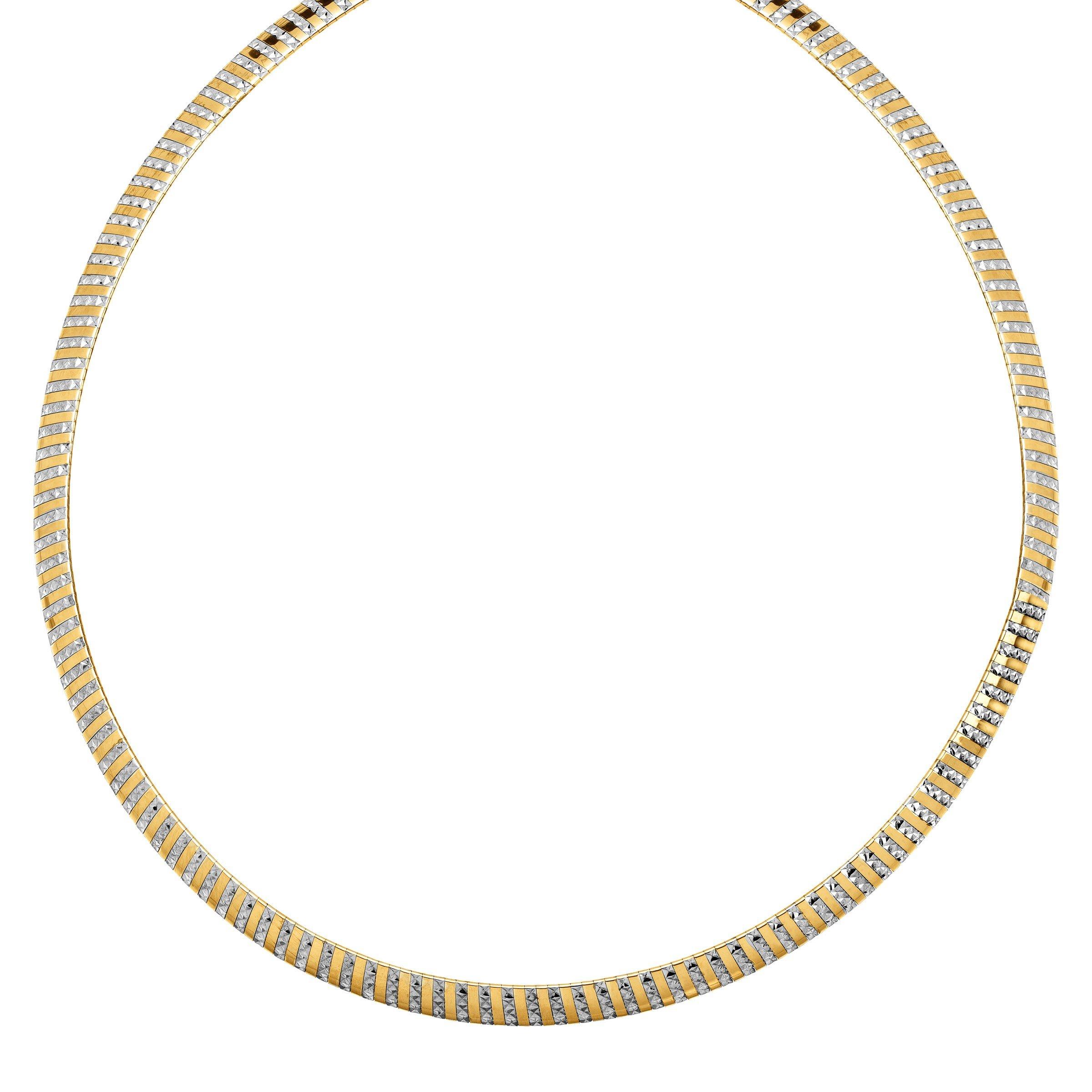 Reversible Avolto Omega Chain Necklace in 14K Gold-Bonded Sterling Silver