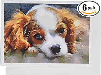 Pack of 4 Papillon Puppy Dog Stationery Greeting Notecards Envelopes