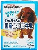 ドギーマン わんちゃんの国産低脂肪牛乳 全犬種用 200ml×24個 (ケース販売)