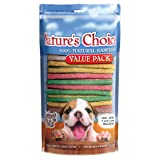 Loving Pets Nature's Choice 100-Percent All Natural 5 inch Rawhide Munchy Stick Dog Treats, 100/Pack