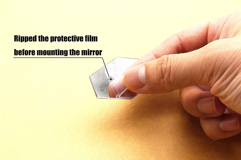 Amazon.com: DIY Mirror Wall Sticker - Removable Acrylic Mirror Decor ...