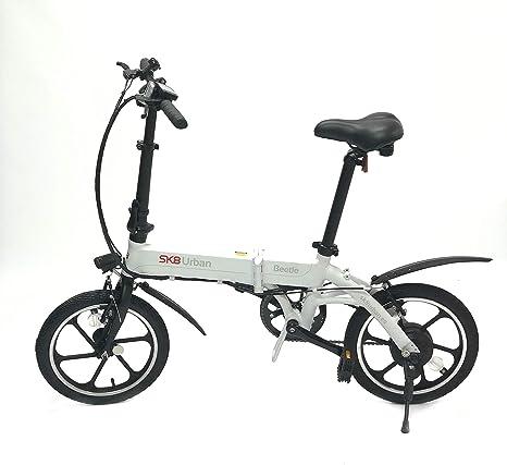 SK8 eBike Urban Beetle Bicicleta eléctrica plegable, Blanco ...
