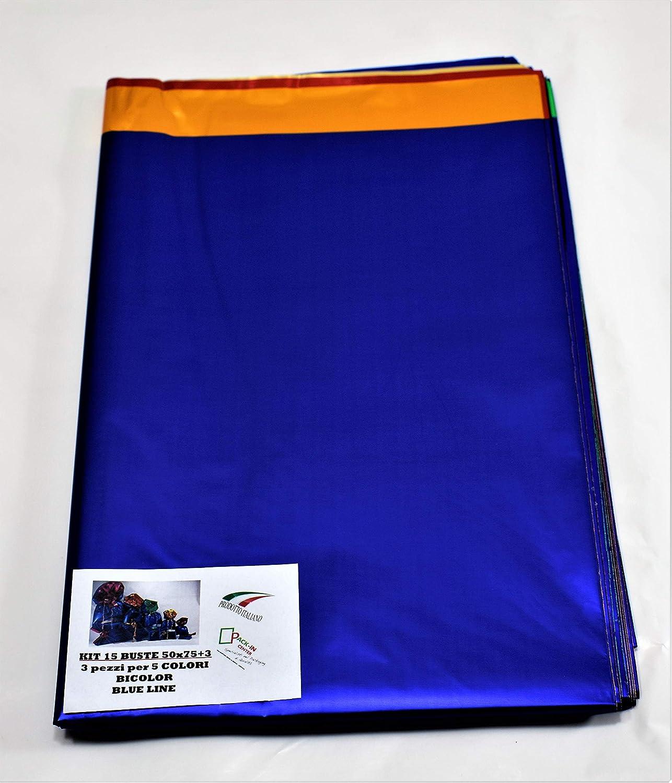 sobres bicolor en 7/colores Externos satinados y 6/colores internos metalizados diferentes tama/ños color 35x50+3 7 buste juego de paquete Regalos