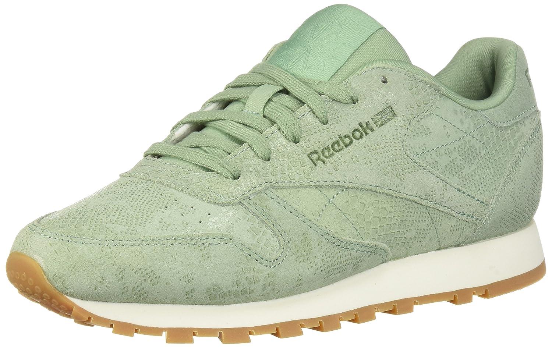 Reebok Women's Classic Leather Sneaker B077ZJX2PB 5 B(M) US|Exotics-industrial Green