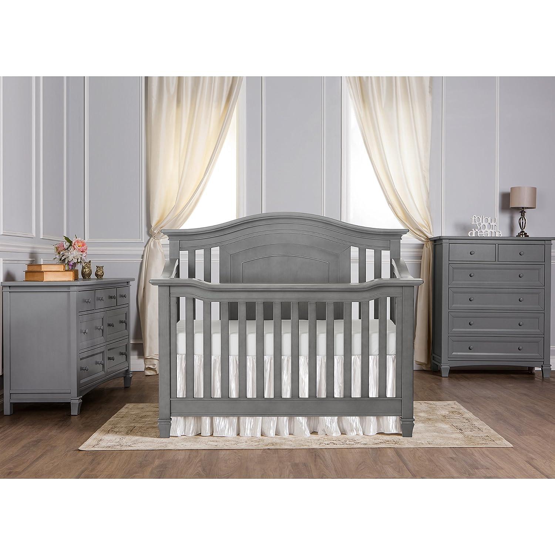 Amazon Evolur Fairbanks 5 in 1 Convertible Crib Storm Grey