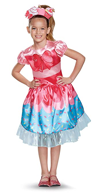 Jessicake Classic Shoppies Costume, Pink/Blue, Medium (7-8)