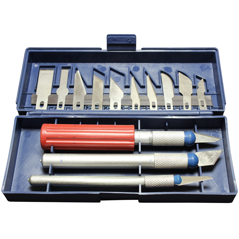16 Piece Craft Utility Hobby Knife Set with Storage Case by bogo Brands