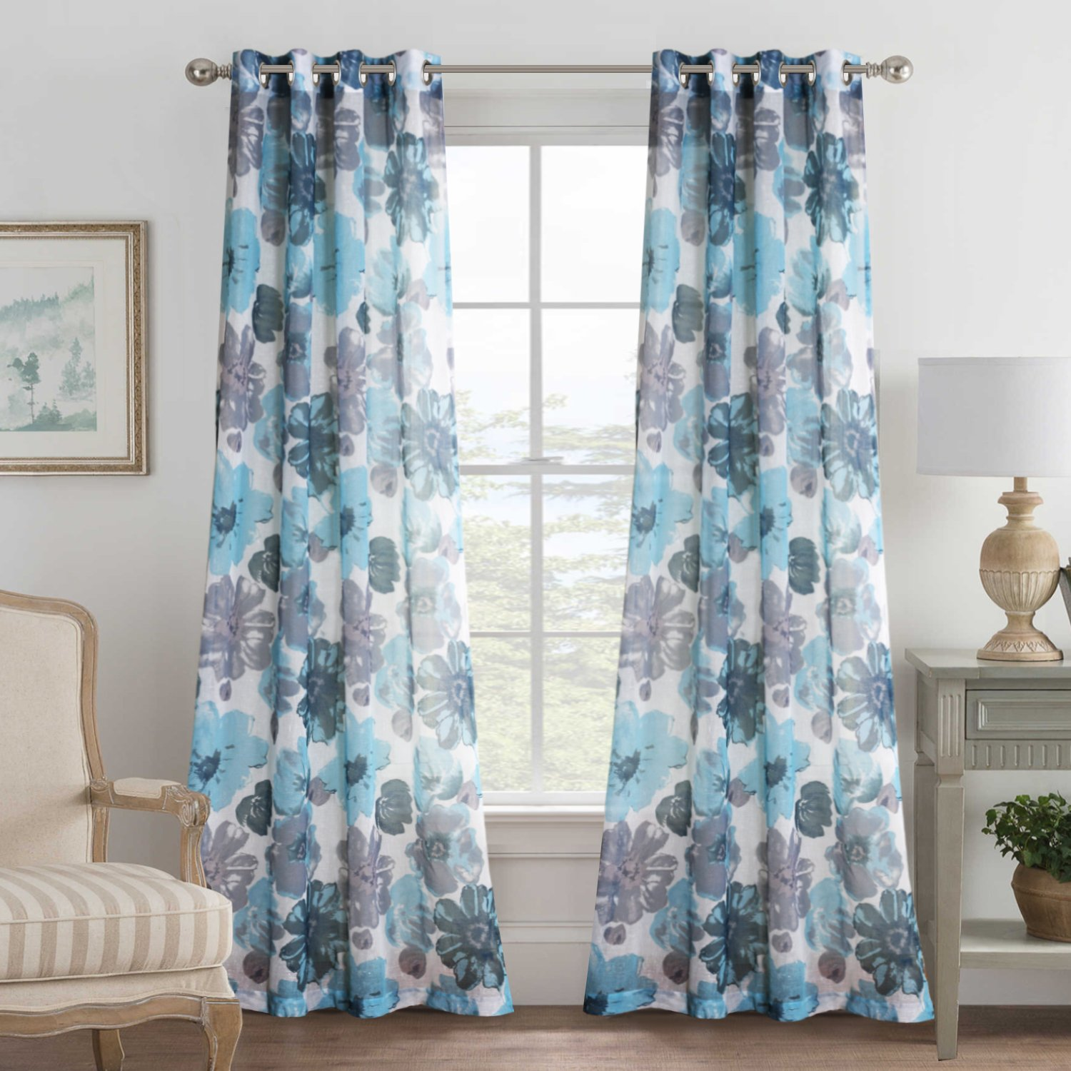 Curtains Natural Linen Blended Semi Sheers Bedroom