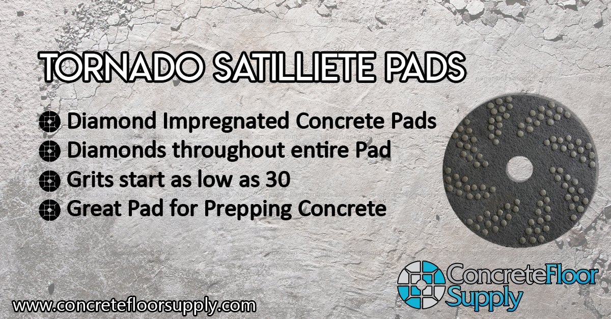 Concrete DNA Resin Satellite Pads | Double Sided Diamond Floor Polishing Pads | 20'', 100 Grit by Concrete Floor Supply