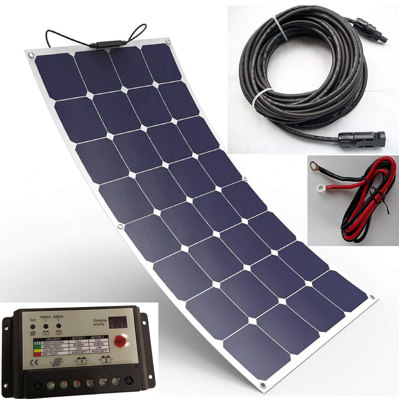 bateau ou yacht caravane Panneau solaire souple durable 100/W compos/é de cellules Back-Contact Kit de chargement pour camping-car Spark