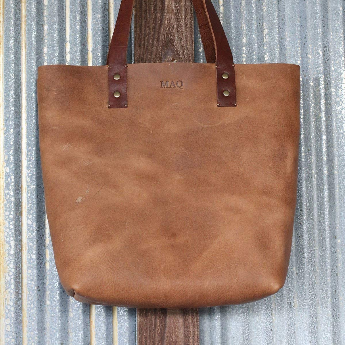 Handmade Tote Fine Leather Handbag Purse Bag The Ashley in Tan
