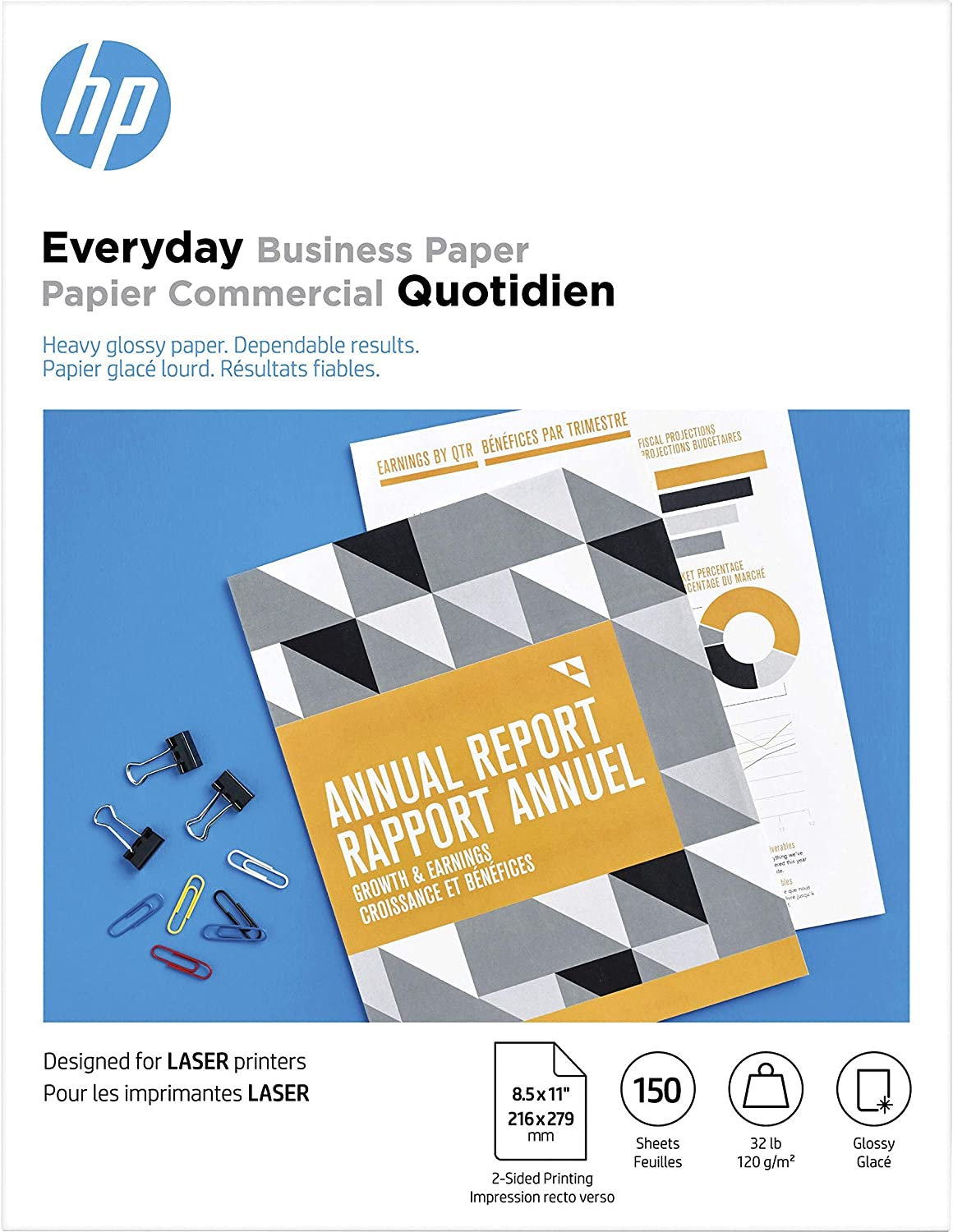 HP Flyer Paper | Glossy | 8.5x11 | 150 Sheets