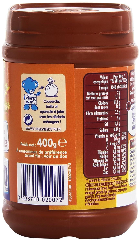 C/ér/éales d/éshydrat/ées D/ès 10 mois Pack de 12 Nestl/é B/éb/é Babicao Bo/îte de 400g