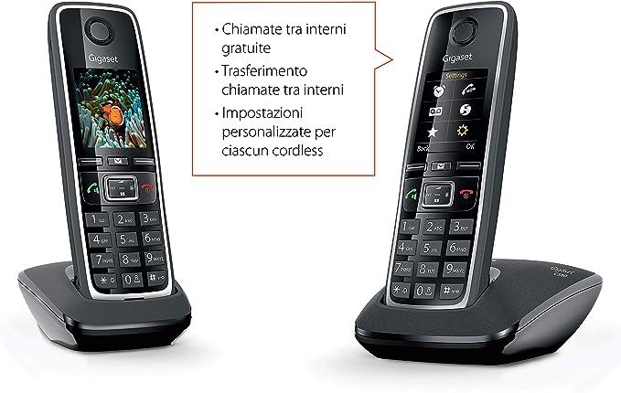 Gigaset C560 Duo Black Coral Italie
