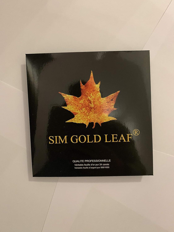 Edible GOLD LEAF feuille d/'or feuilles 4.33 X 4.33 CM 24K Feuille d/'or pour décoration Spa