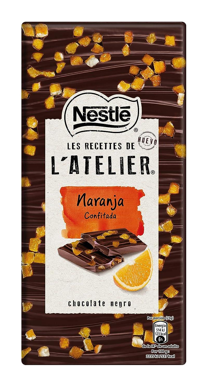 Nestlé Les Recettes de Atelier Tableta Chocolate Negro y Naranja Confitada - 115 gr: Amazon.es: Alimentación y bebidas