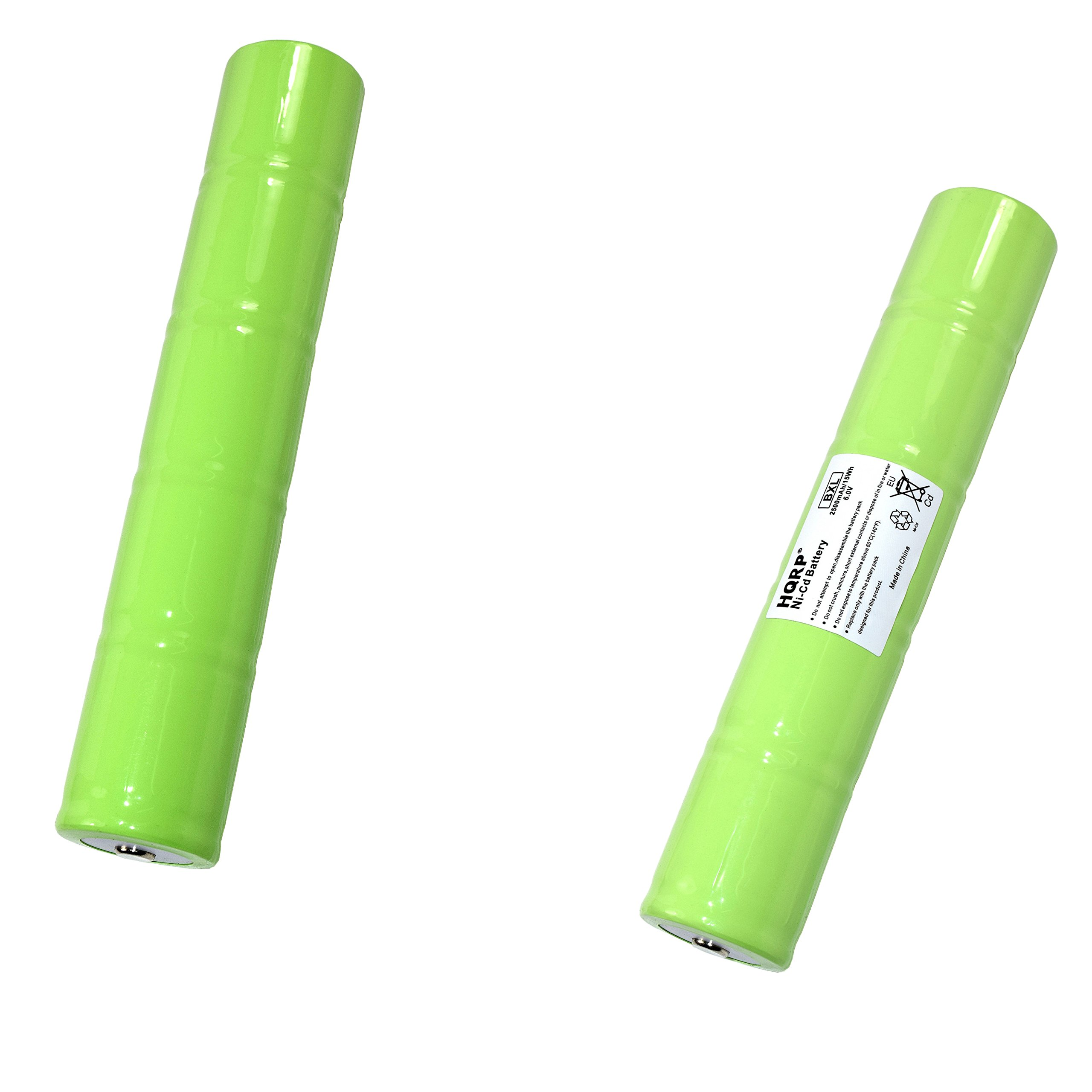 HQRP 2-Pack Battery for Maglite 201701, 40070249, ESR4EE3060, ET2600D, ML5000, N38AF008A Replacement Plus HQRP Coaster