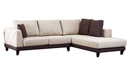 Amazon Com Abbyson Living Juliette Fabric Sectional Sofa Home