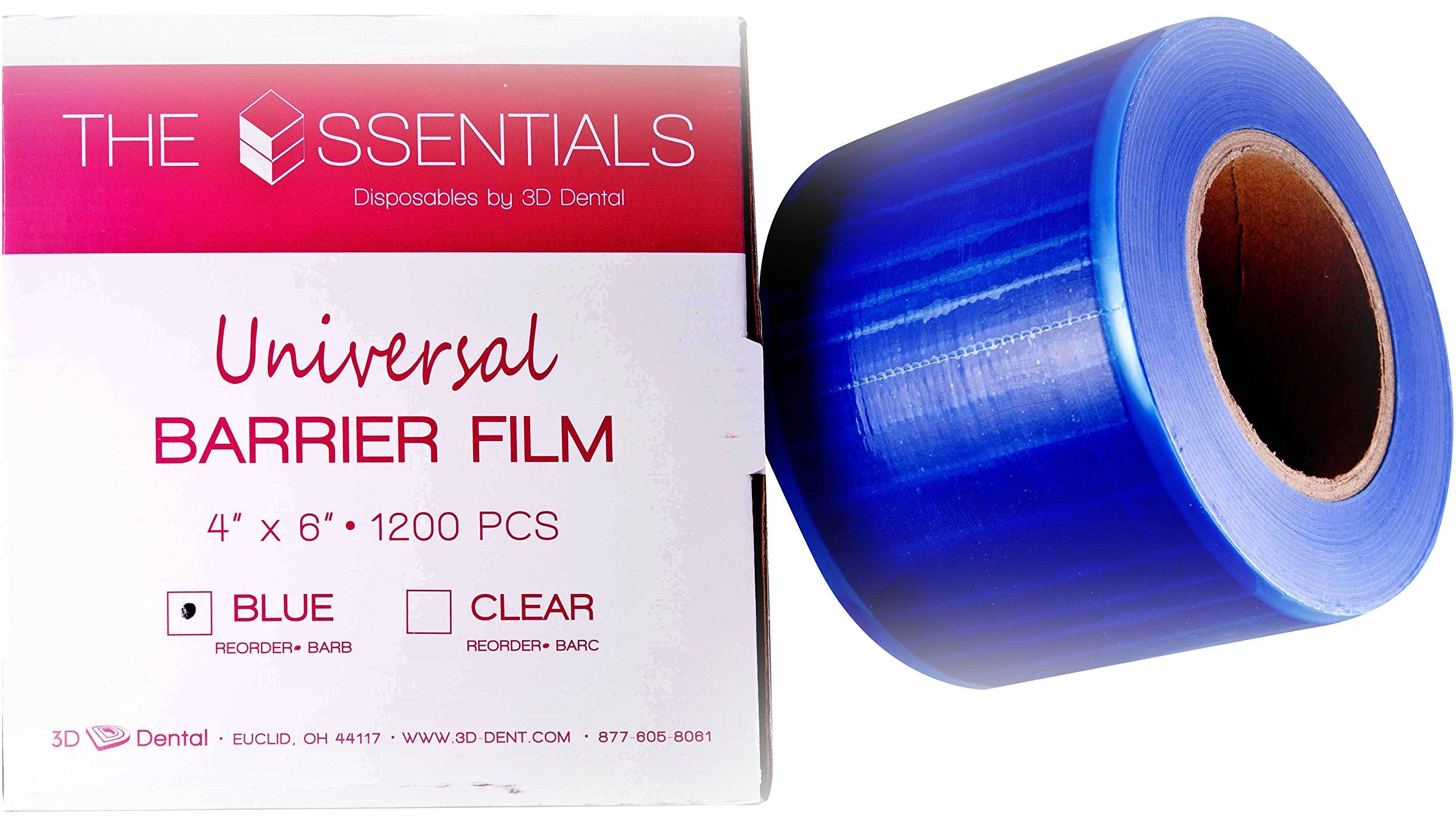 3D Dental BARB Universal Barrier Film, 4'' x 6'', Blue
