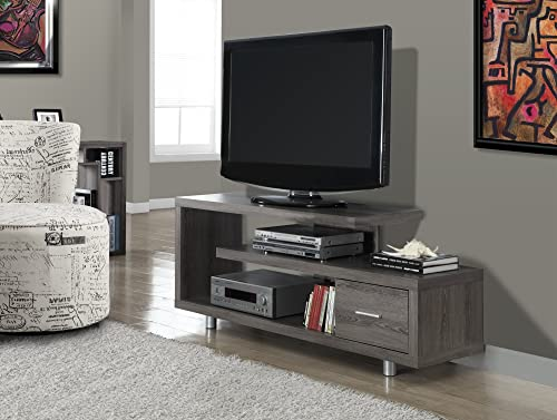 Michael Anthony Dark Taupe Reclaimed-Look 60 L TV Console