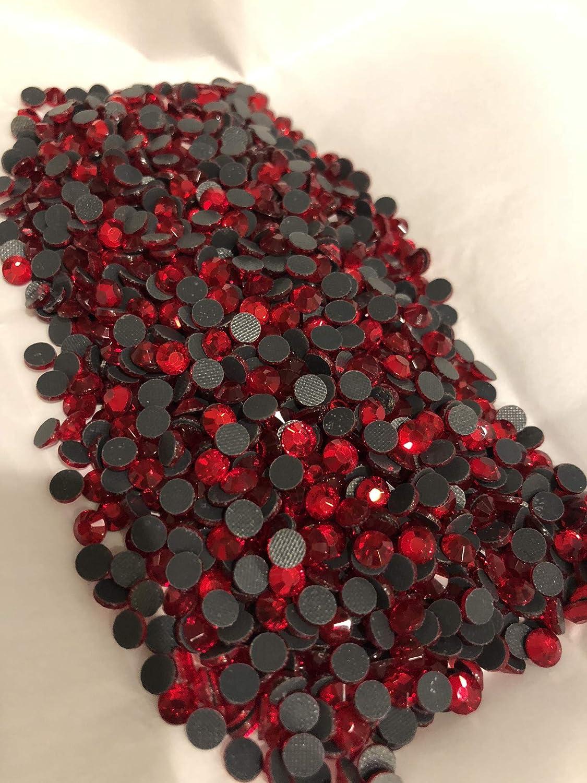 BrillaBenny 1400 Strass Rossi Light SIAM Rosso DmC Quality TERMOADESIVI HOTFIX Danza Pattinaggio Red Crystal Rubino SS6//2MM