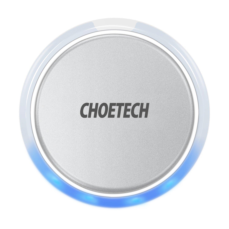 CHOETECH Chargeur sans Fil, Qi Chargeur sans Fil avec Capteur d'Eclairage Compatible avec Apple iPhone XS Max/XS/XR/X, Samsung S9/S9 +/S8 +/S8 et Autres Appareils Compatibles Qi (sans AC Adaptateur) CHOE TECHNOLOGY CHOE-T517W
