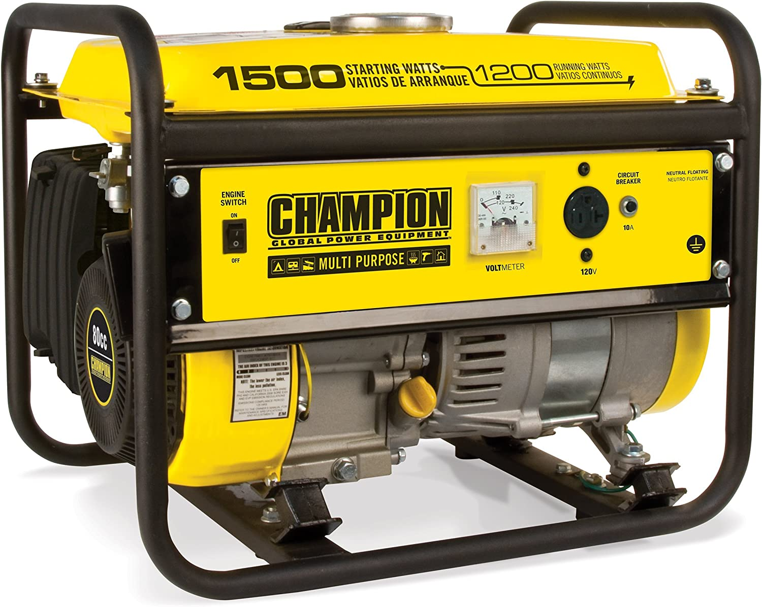Amazon.com : Champion 1200-Watt Portable Generator : Garden & Outdoor