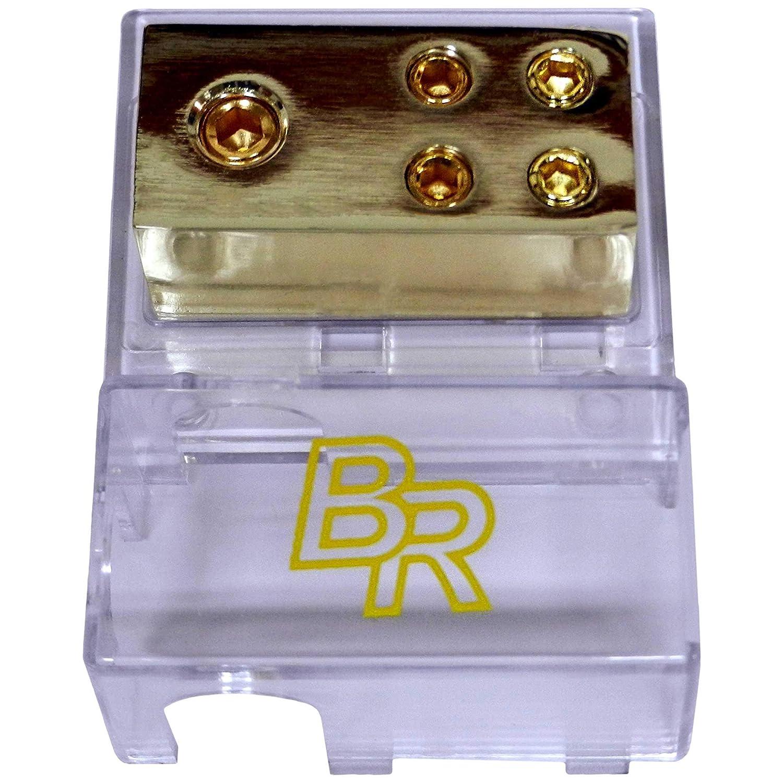 DB004 LYSB01IPNSPS2-ELECTRNCS Bass Rockers 4-Way Distribution Block 1 x 0GA to 4 x 4GA