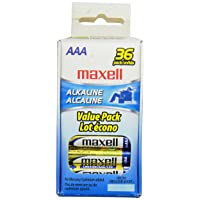 Maxell 723815 Alkaline Battery AAA Cell 36-Pack Deals