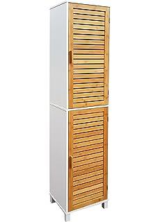 Badschrank bambus  osoltus Waschtisch Unterschrank Badschrank Waschbeckenschrank ...