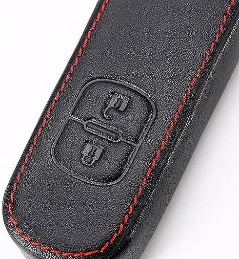 couvertures de porte-cl/és de voiture cl/és 2 boutons iTimo Sac en cuir de cl/é de voiture pour Mazda 2 3 6 CX-5 CX-3 CX-4 CX-7 CX-9 AXELA