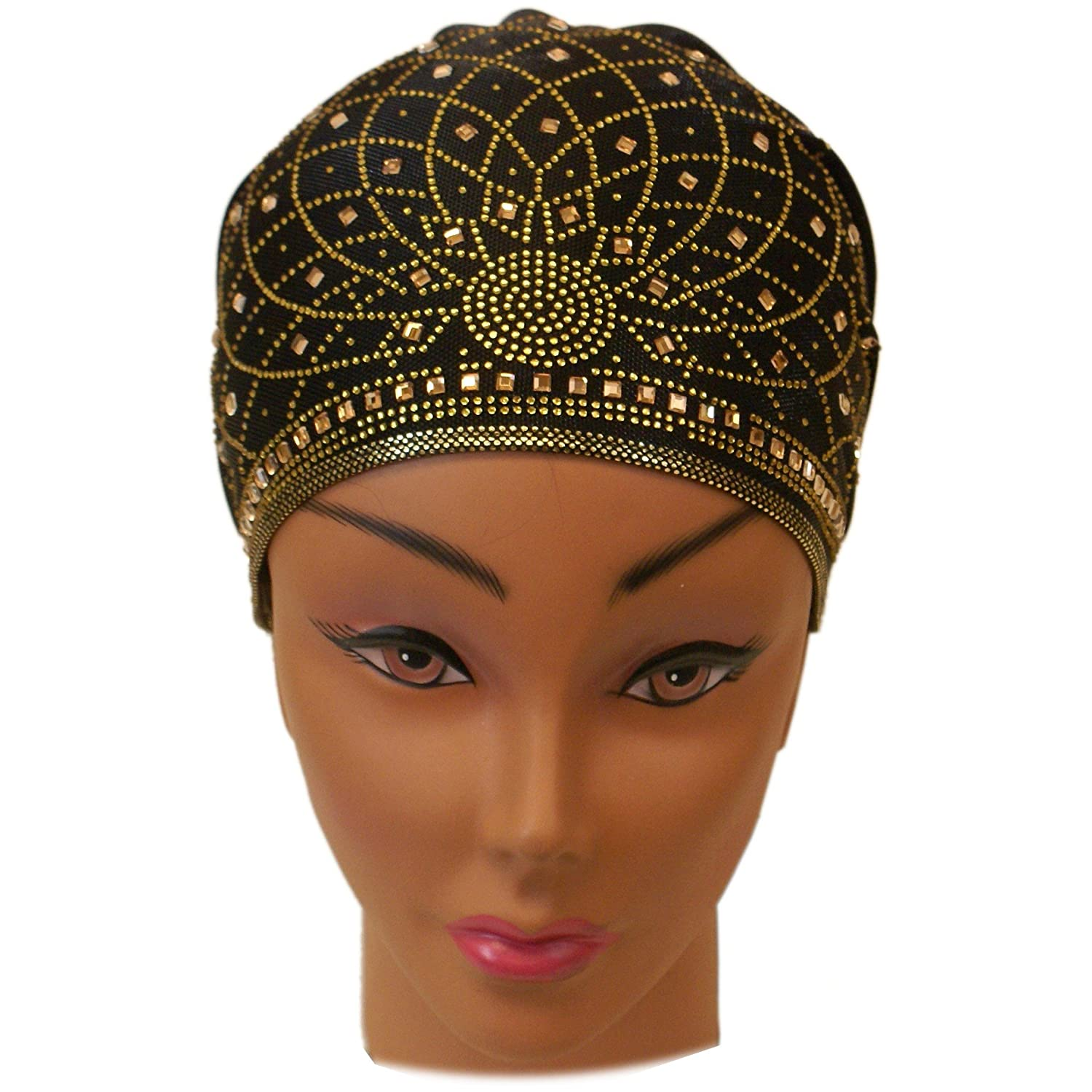 Retro Vintage Style Hats SSK Beautiful Metallic Turban-style Head Wrap $13.98 AT vintagedancer.com
