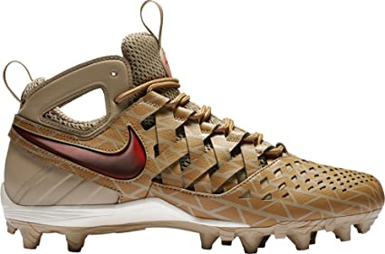 huge discount d80a8 9659b Nike Men s Huarache V Lax Elite Mid Lacrosse Cleats(Khaki, 16 D(M