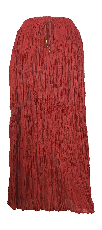 IkコレクションLong Solid Color Broomスカート B01LMITQDK レッド レッド