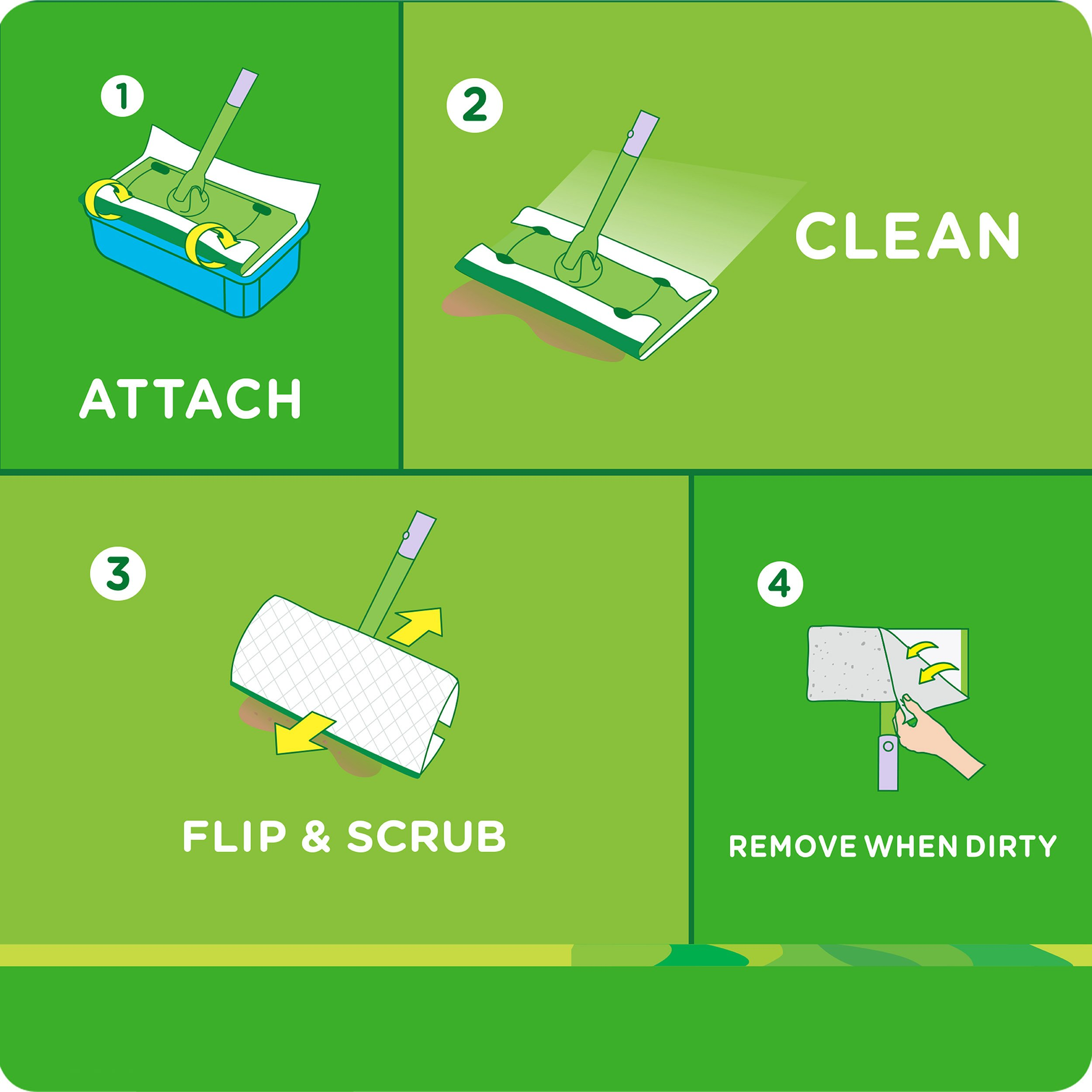 Swiffer Sweeper Wet Mop Refills for Floor Mopping and Cleaning, All Purpose Floor Cleaning Product, Lavender Vanilla and Comfort Scent, 36 Count by Swiffer (Image #3)