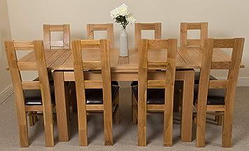 Richmond Medium Extending Solid Oak Dining Table 8 Solid Oak