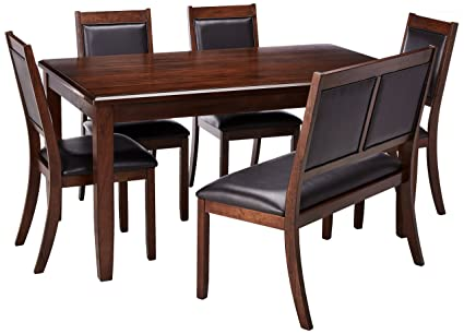 Ashley Furniture Signature Design   Meredy Dining Room Table And Chairs  With Bench (Set Of