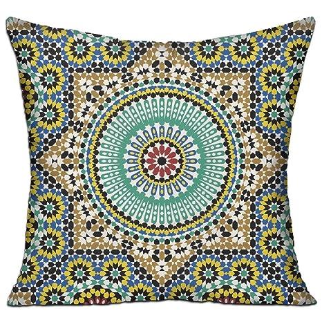 Amazon.com: WQBZL - Almohada decorativa tradicional con ...