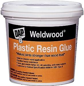 DAP 00204 Weld Wood Plastic Resin Glue, 4.5 Lb, Pail, Tan, Powder