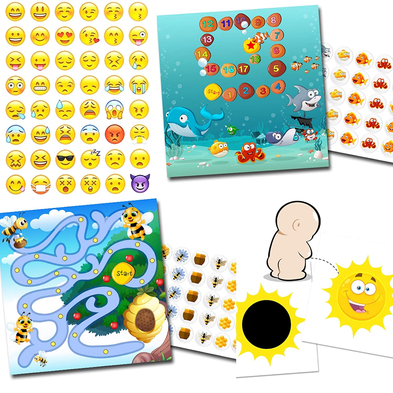 T/öpfchen Training mit 2 Belohnungssystemen Aquarium Biene 1x Effekt Sticker Sonne 48 Smileys