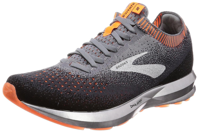 Brooks Levitate 2, Zapatillas de Running para Hombre 42 EU Multicolor (Grey/Black/Orange 026)