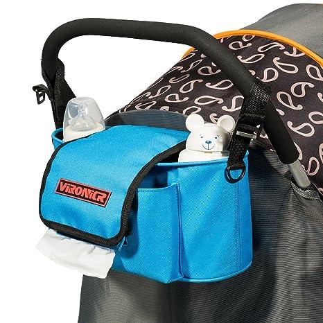 LIBEYE Bolsa bolso carro bebe Organizador para cochecito de niño silla de paseo con bandolera extraíble