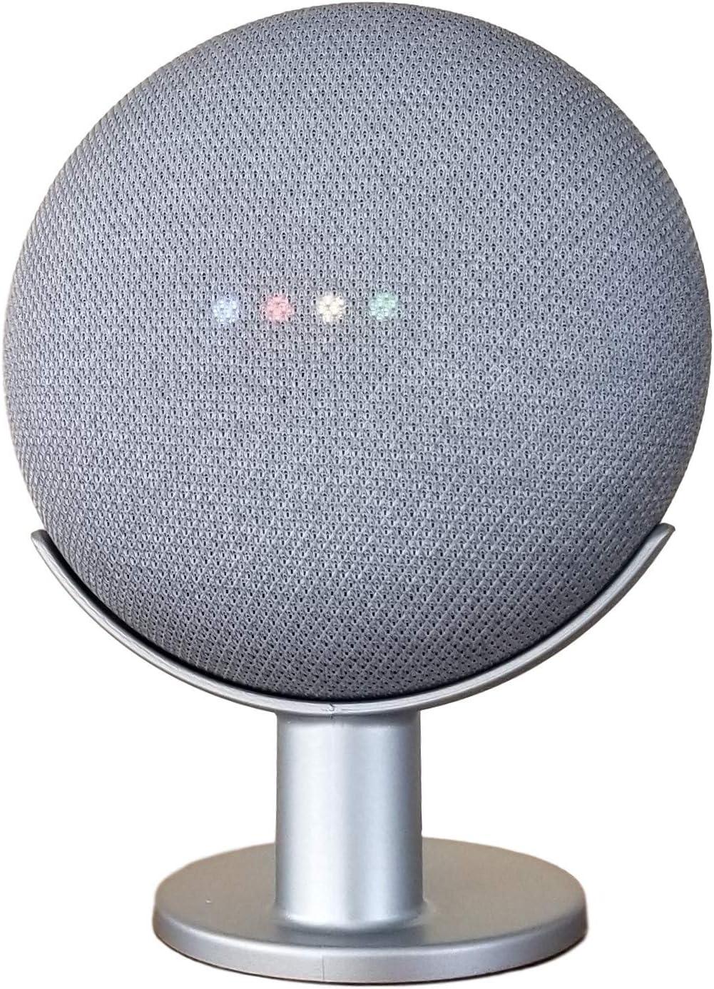 Soporte Stand Para Google Home Mini plateado