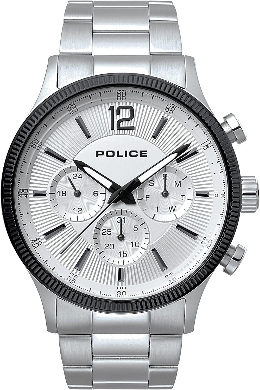 Police Reloj Multiesfera para Hombre de Cuarzo con Correa en Acero Inoxidable PL.15302JSTB/01M