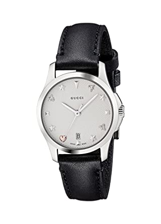 4f4ff87f1be Gucci Womens Analogue Classic Quartz Watch with Leather Strap YA126574   Amazon.co.uk  Watches