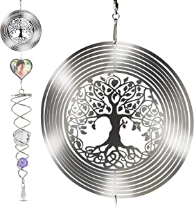 Saikirra Hanging Garden Decorations- Wind Spinner I Memorial Wind Chime Outdoor I Crystal 3D Wind Spinners I Memorial Outdoor Decorations I Memorial Gift I Crystal Garden Decor