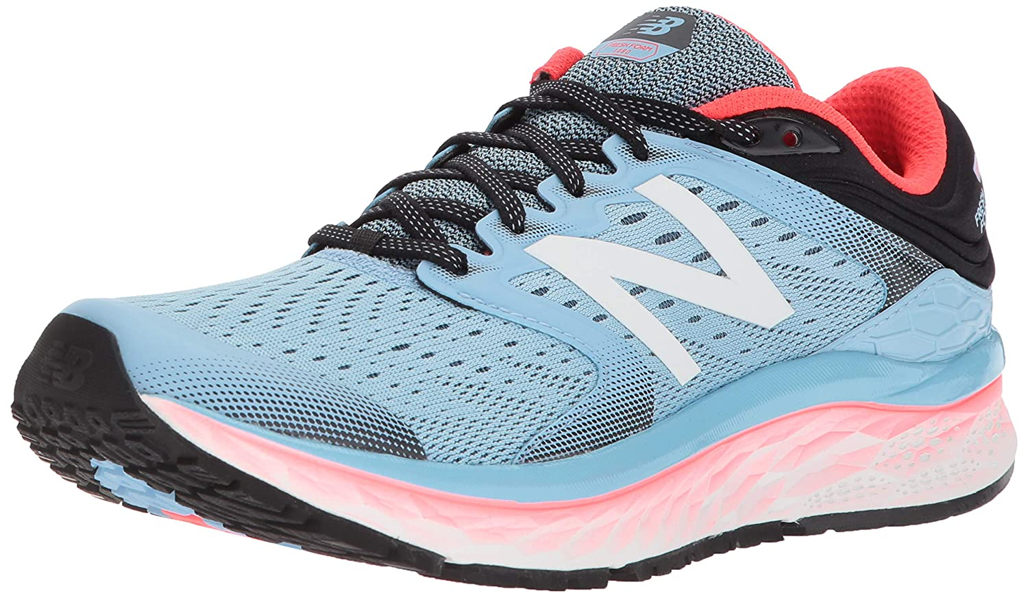 New Balance Women's 1080v8 Fresh Foam Running Shoe, Light Blue, 10 2E US
